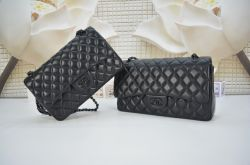 Chanel 2.55 All Black Hardware