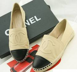 Spadrille Chanel Couro - AAA